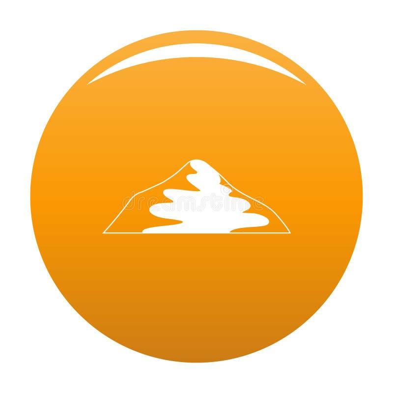 Arancia asiatica dell'icona della montagna royalty illustrazione gratis