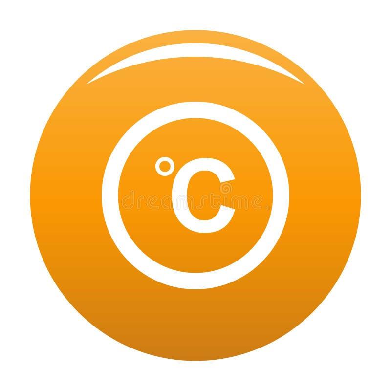 Arancia centigrado dell'icona illustrazione vettoriale