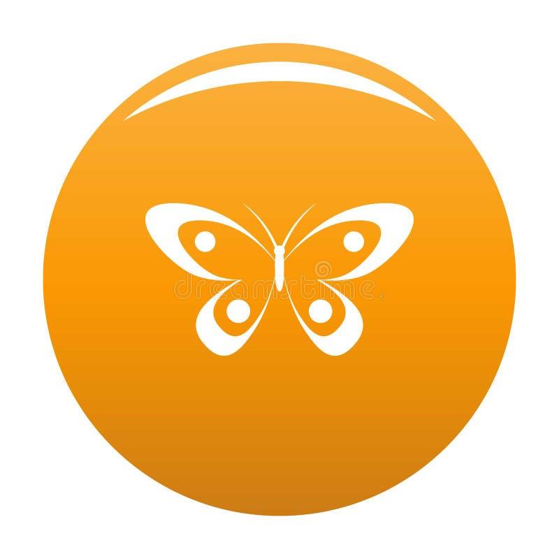 Arancia decorativa dell'icona della farfalla royalty illustrazione gratis