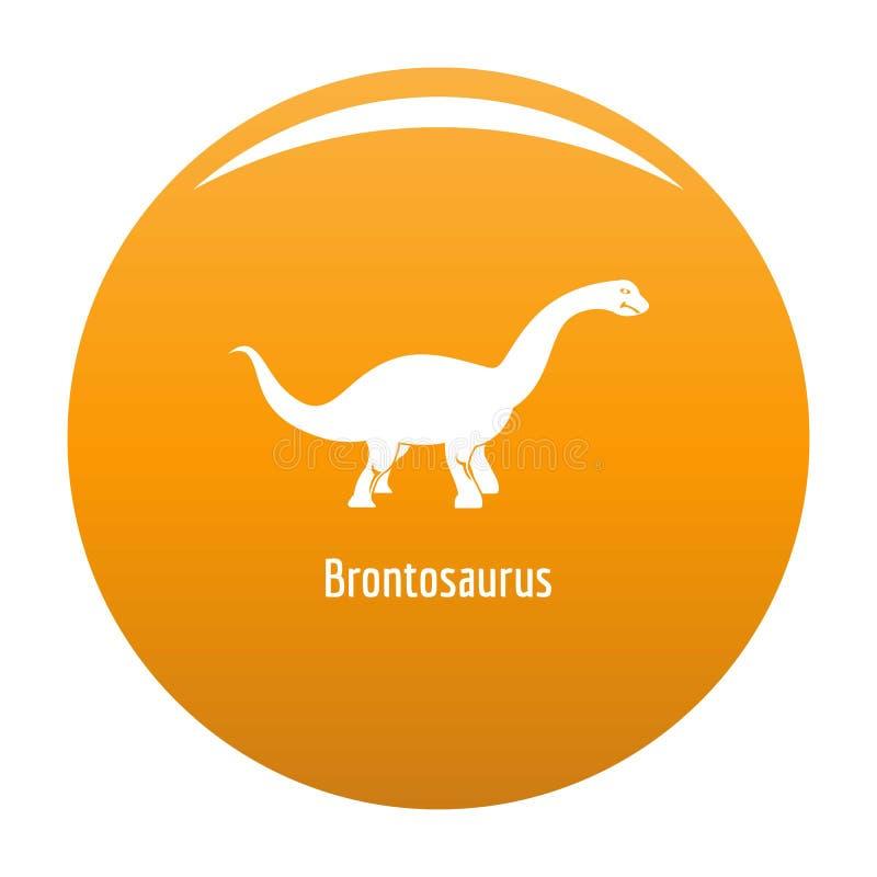 Arancia dell'icona del brontosauro illustrazione di stock