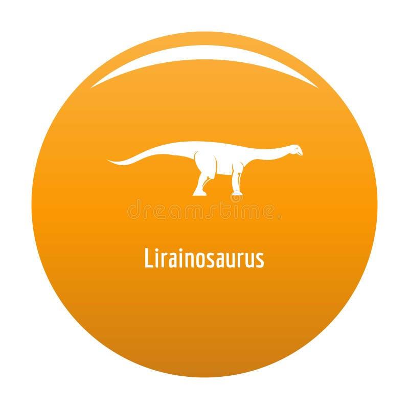 Arancia dell'icona del Lirainosaurus illustrazione di stock