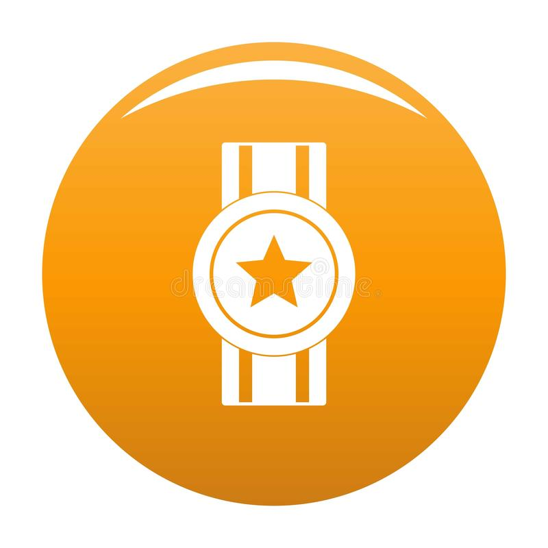 Arancia dell'icona del nastro del premio illustrazione di stock