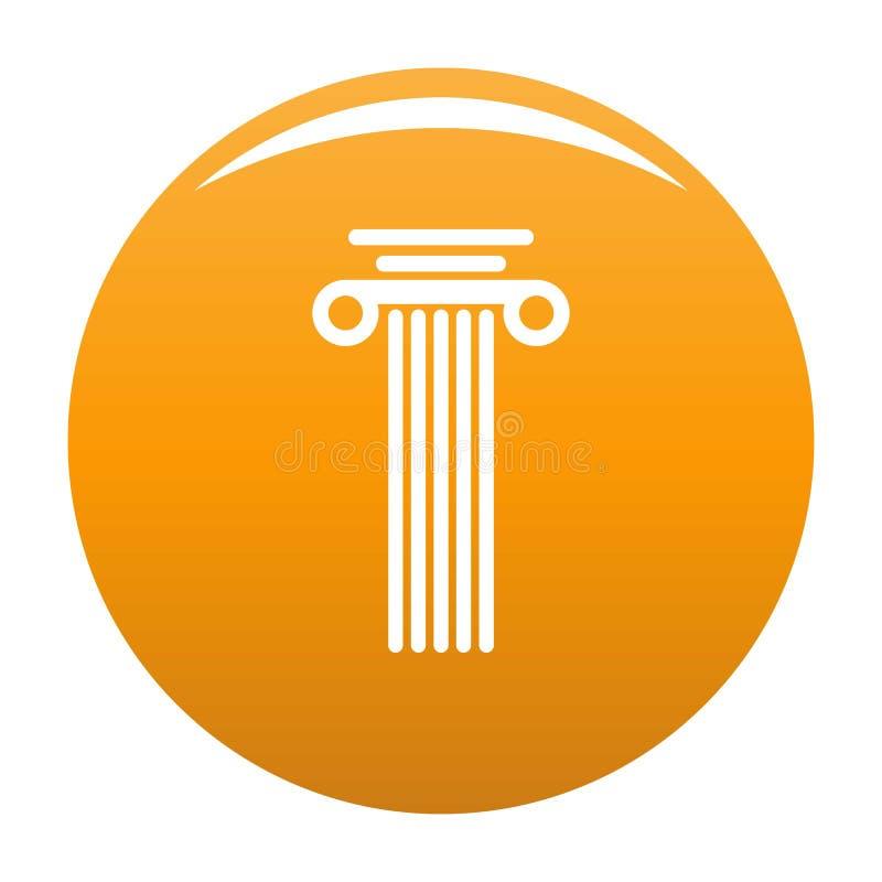 Arancia dell'icona della colonna quadrata illustrazione vettoriale