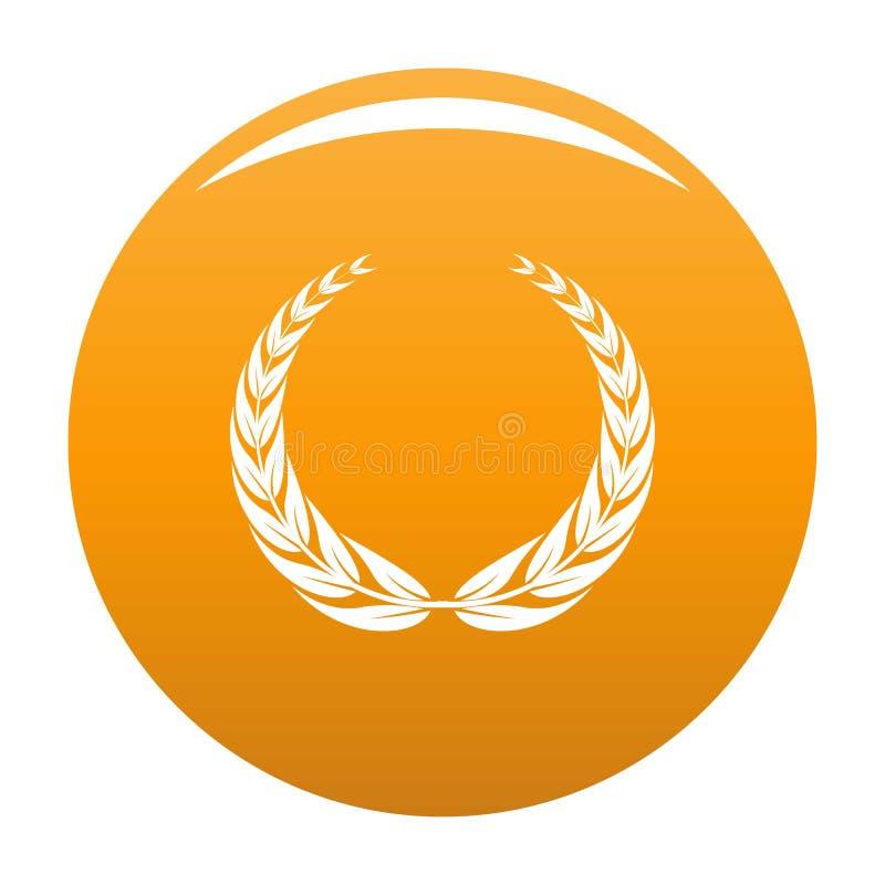 Arancia dell'icona della corona della corona illustrazione di stock