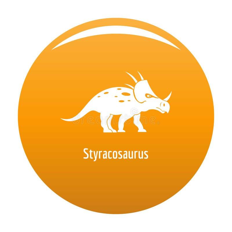 Arancia dell'icona dello Styracosaurus illustrazione di stock