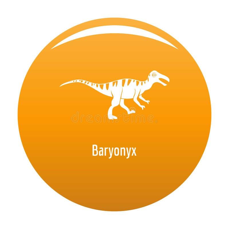 Arancia dell'icona di Baryonyx royalty illustrazione gratis