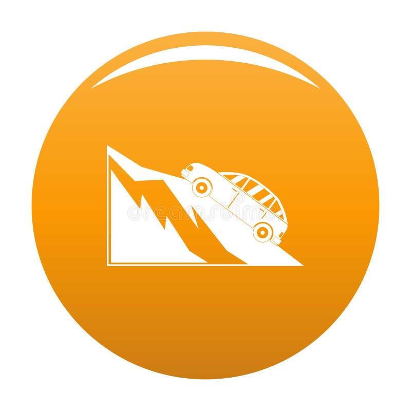 Arancia dell'icona di incidente della montagna illustrazione vettoriale