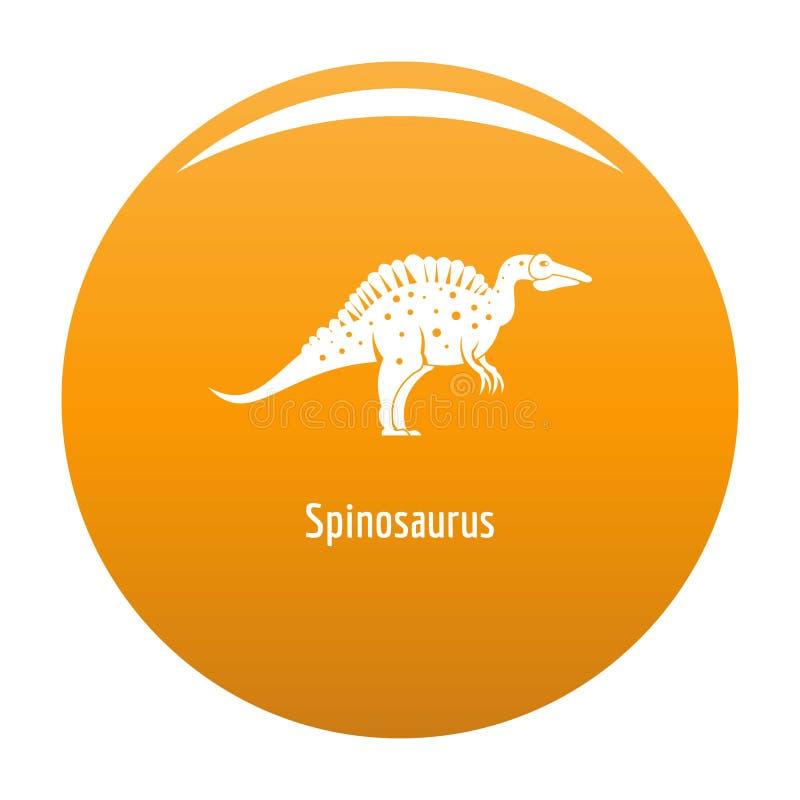 Arancia dell'icona di Spinosaurus royalty illustrazione gratis