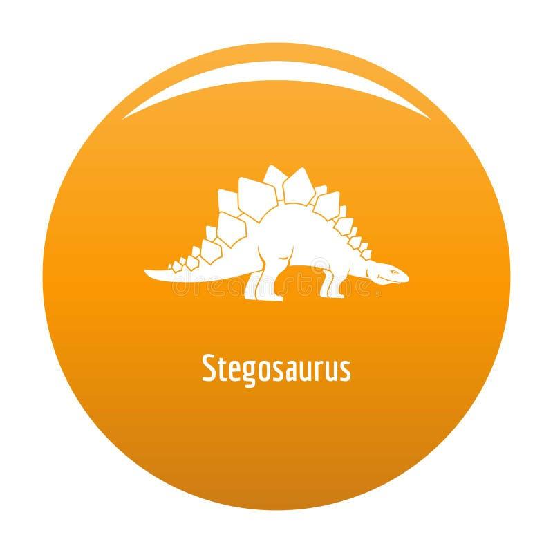 Arancia dell'icona di stegosauro illustrazione vettoriale