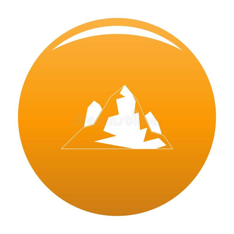 Arancia dell'icona dell'iceberg royalty illustrazione gratis