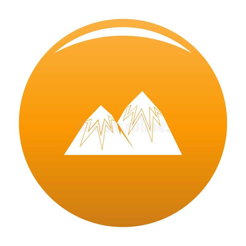 Arancia di punta dell'icona della neve illustrazione vettoriale