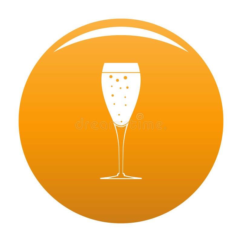 Arancia di vetro piena di vettore dell'icona illustrazione di stock