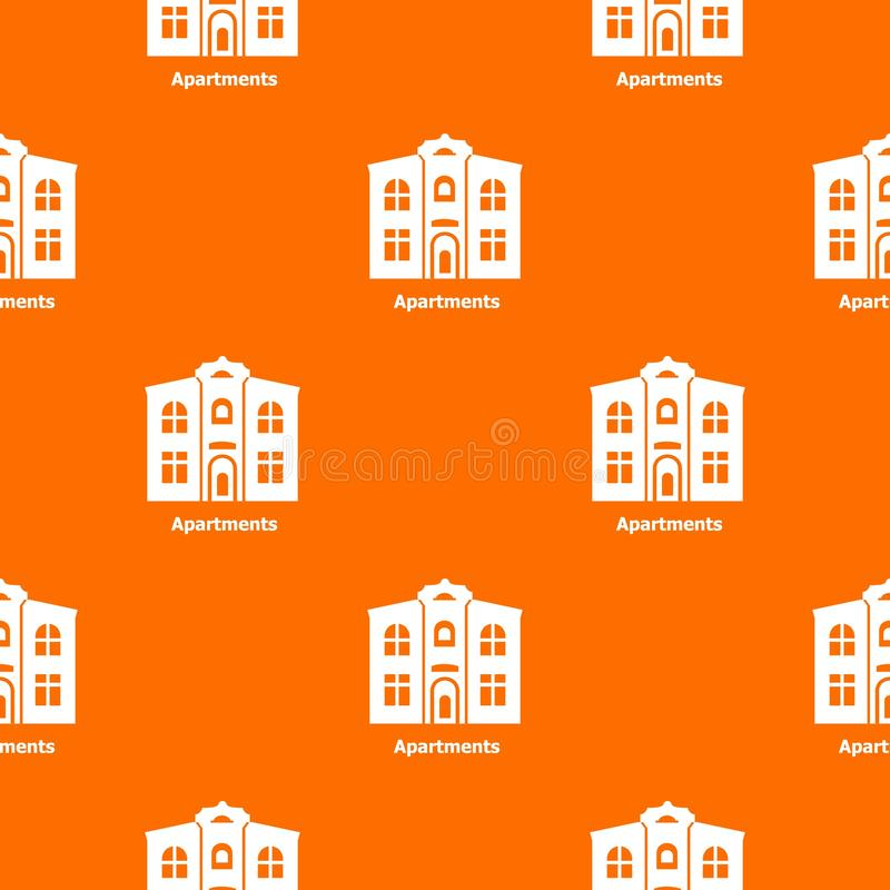 Arancia di vettore del modello degli appartamenti illustrazione di stock