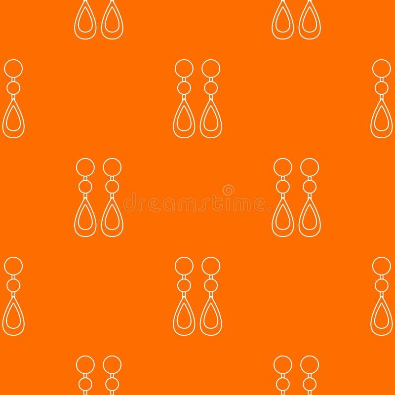 Arancia di vettore del modello degli orecchini della perla royalty illustrazione gratis