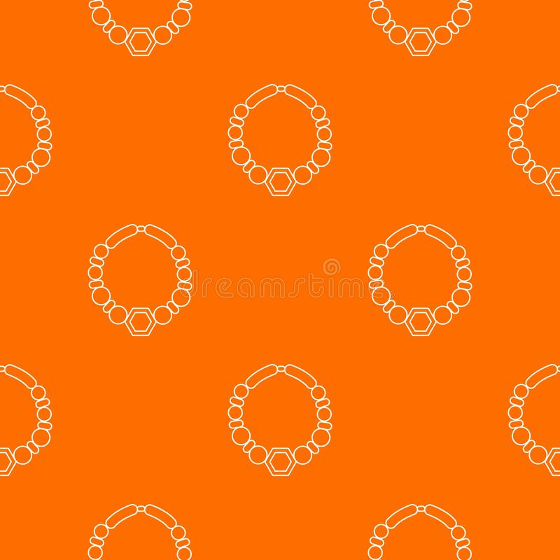 Arancia di vettore del modello della collana della perla illustrazione vettoriale