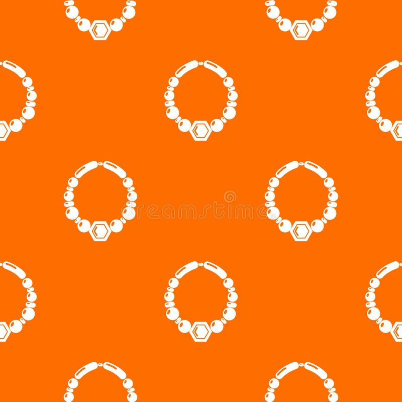 Arancia di vettore del modello della collana della perla illustrazione di stock