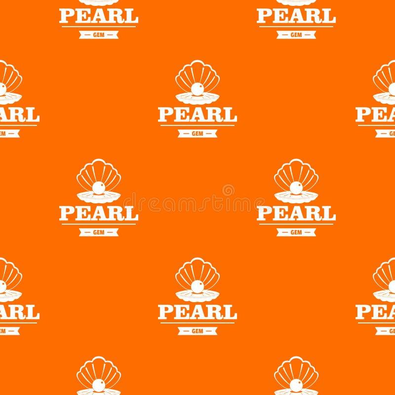 Arancia di vettore del modello della gemma della perla illustrazione di stock