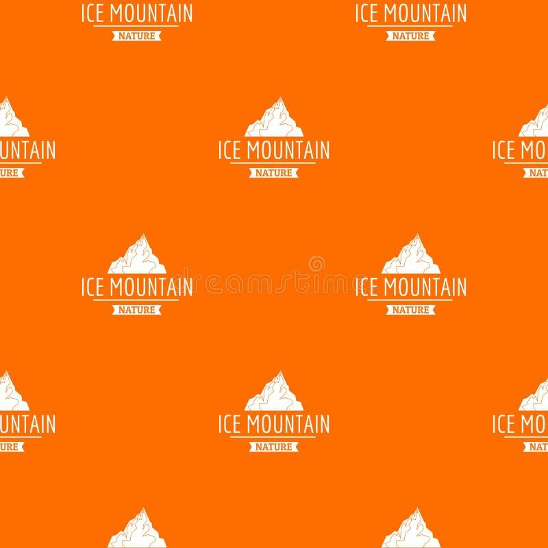 Arancia di vettore del modello della montagna di ghiaccio illustrazione di stock