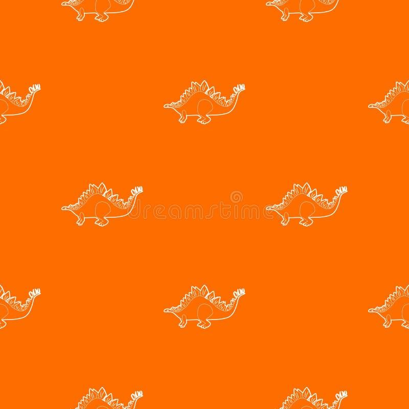 Arancia di vettore del modello di stegosauro illustrazione di stock