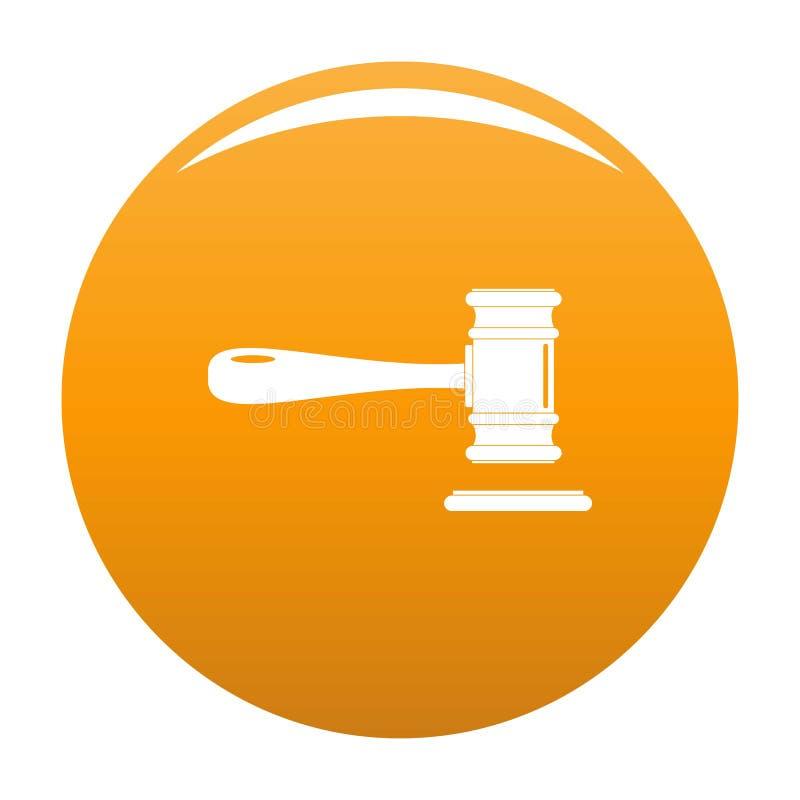 Arancia di vettore dell'icona della corte illustrazione vettoriale