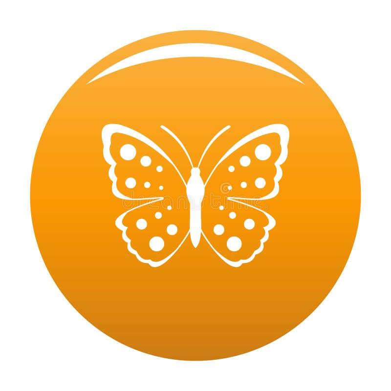Arancia di vettore dell'icona della farfalla della primavera illustrazione vettoriale