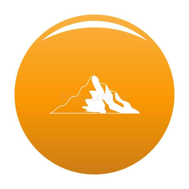 Arancia di vettore dell'icona della montagna della neve royalty illustrazione gratis