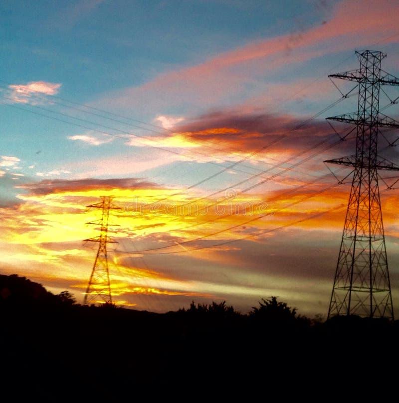 Arancia elettrica fotografia stock libera da diritti
