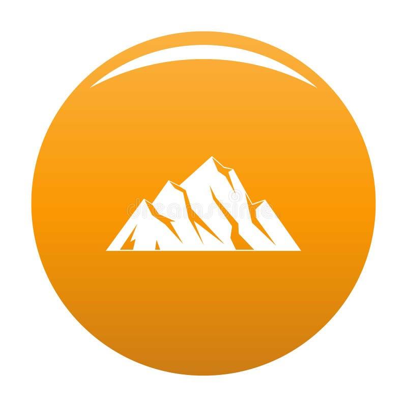 Arancia estrema dell'icona della montagna royalty illustrazione gratis