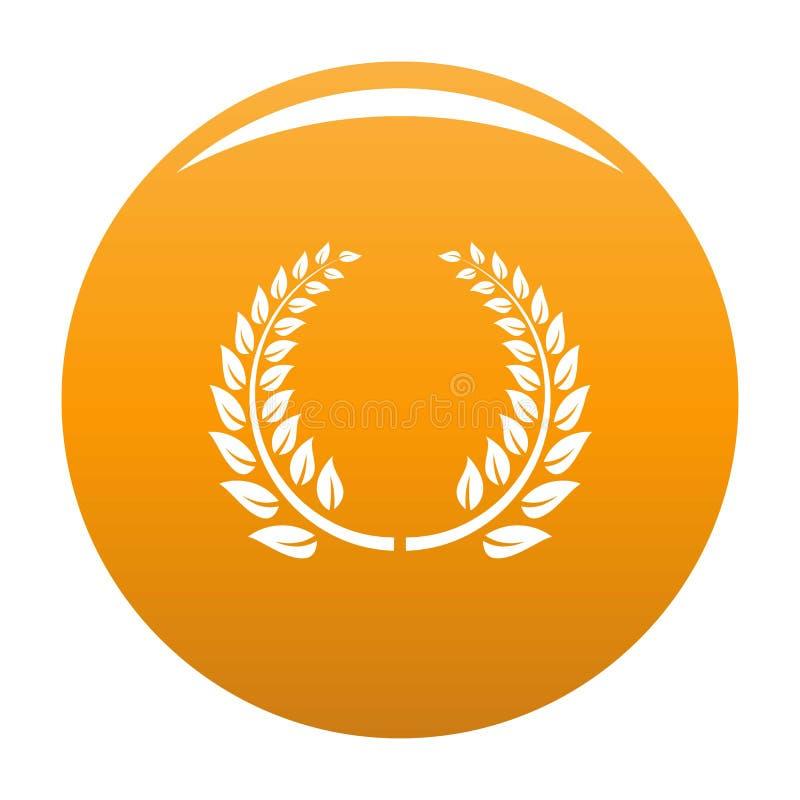 Arancia floreale dell'icona della corona illustrazione di stock