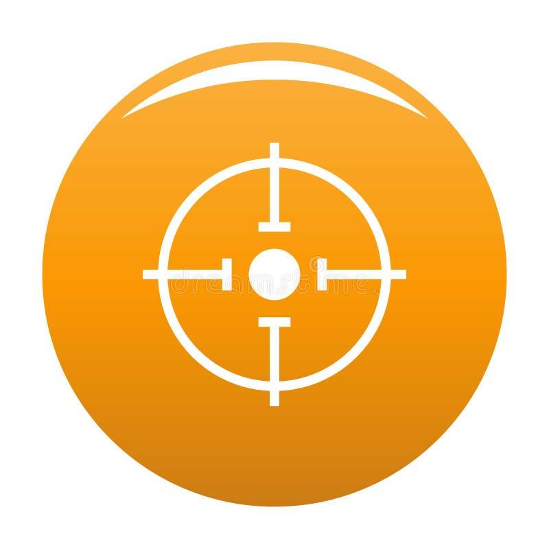 Arancia importante dell'icona dell'obiettivo illustrazione di stock
