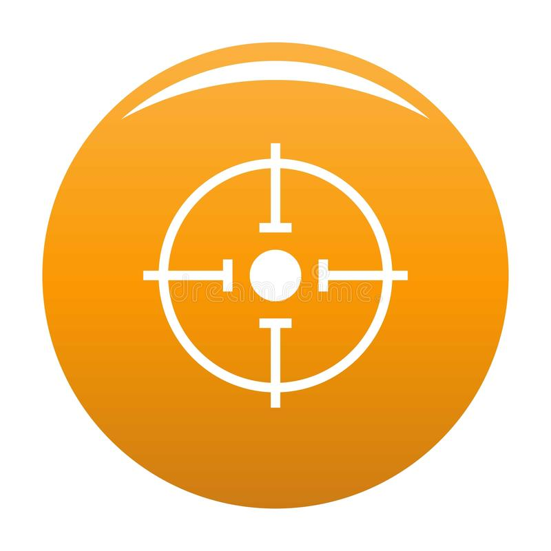 Arancia importante di vettore dell'icona dell'obiettivo royalty illustrazione gratis