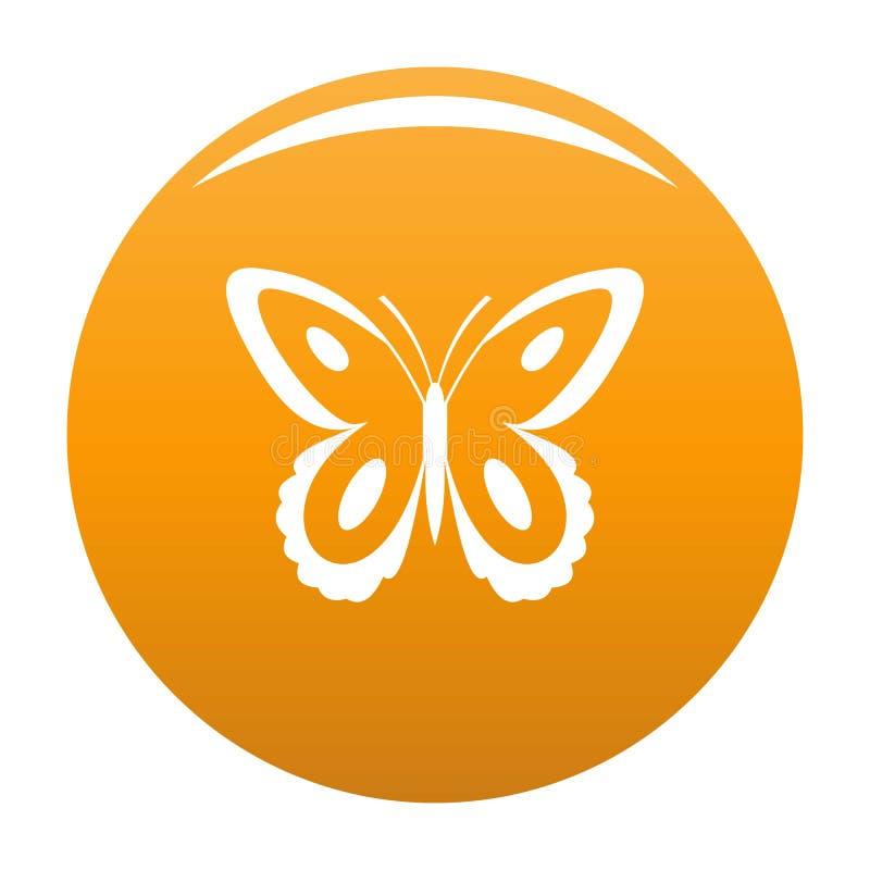 Arancia macchiata di vettore dell'icona della farfalla royalty illustrazione gratis