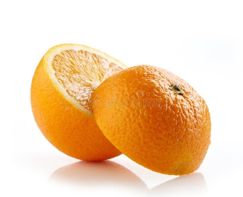 Arancia mezza fresca immagine stock