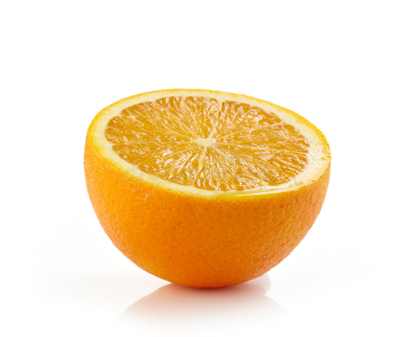 Arancia mezza fresca fotografia stock