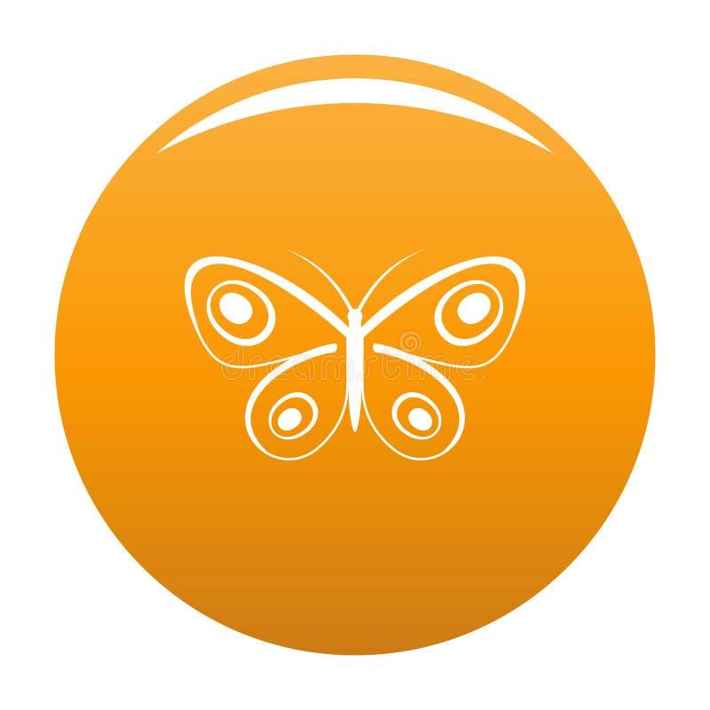 Arancia minuscola di vettore dell'icona della farfalla illustrazione vettoriale