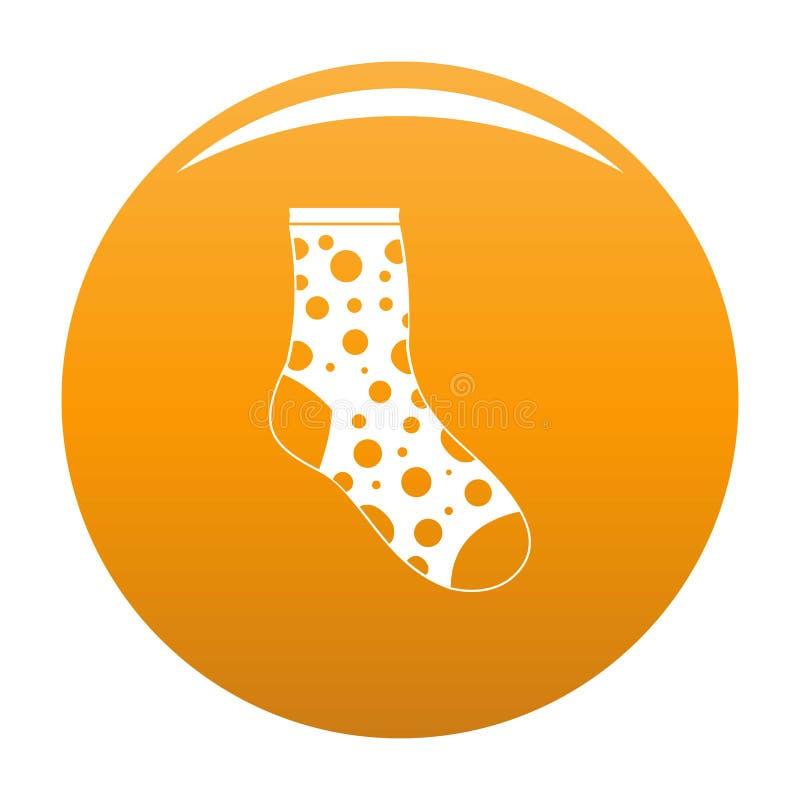 Arancia persa di vettore dell'icona del calzino illustrazione vettoriale