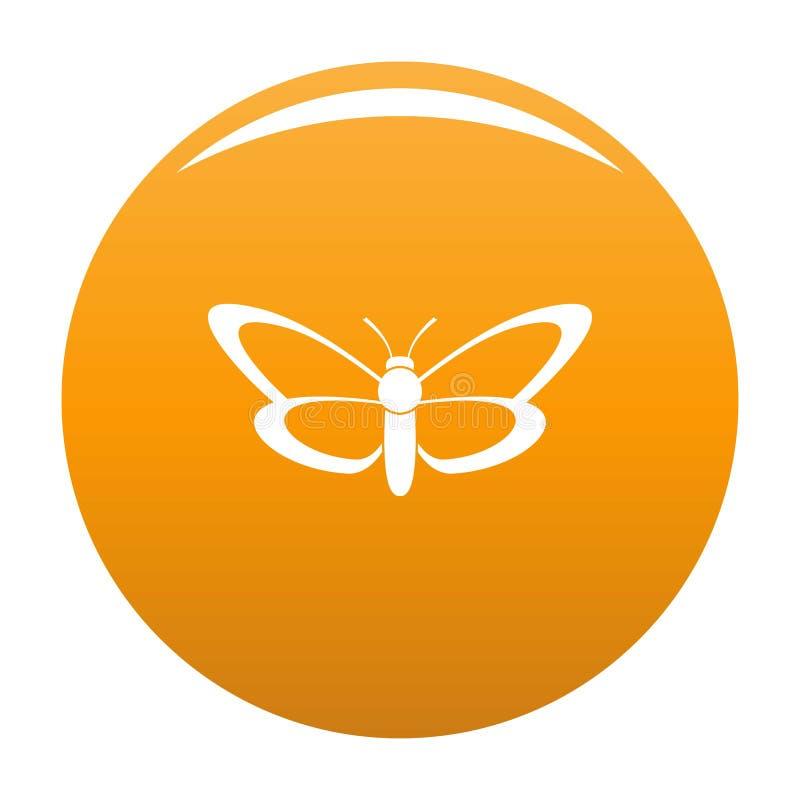Arancia piacevole dell'icona della farfalla illustrazione di stock