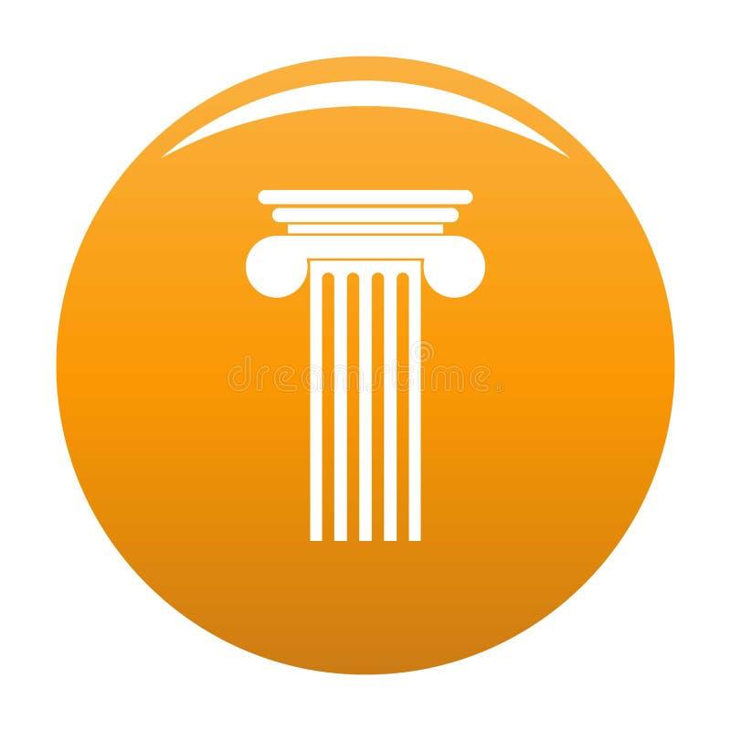 Arancia Polyhedral dell'icona della colonna illustrazione vettoriale
