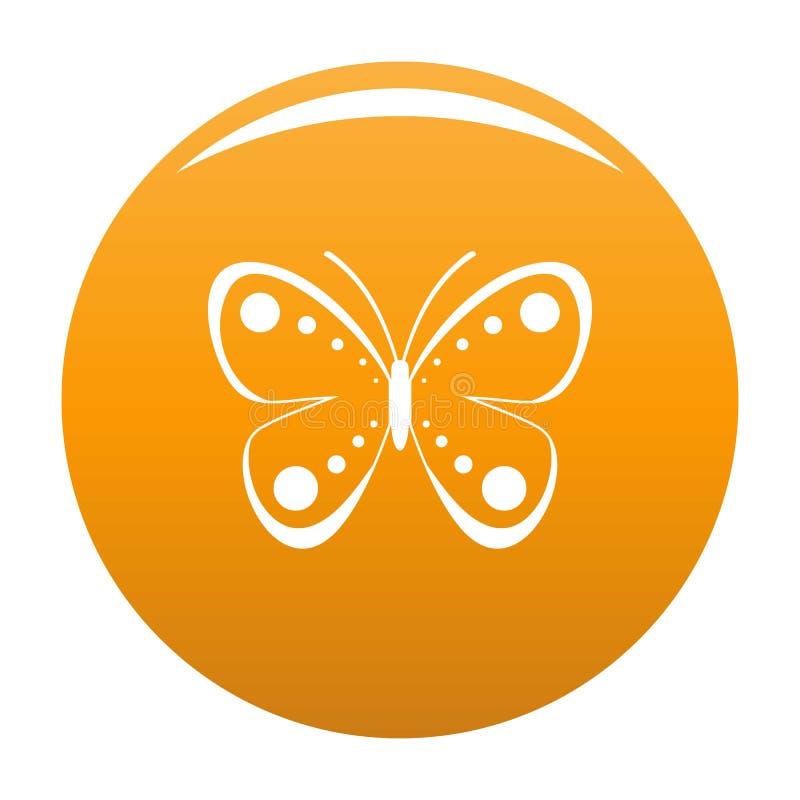 Arancia selvatica dell'icona della farfalla royalty illustrazione gratis