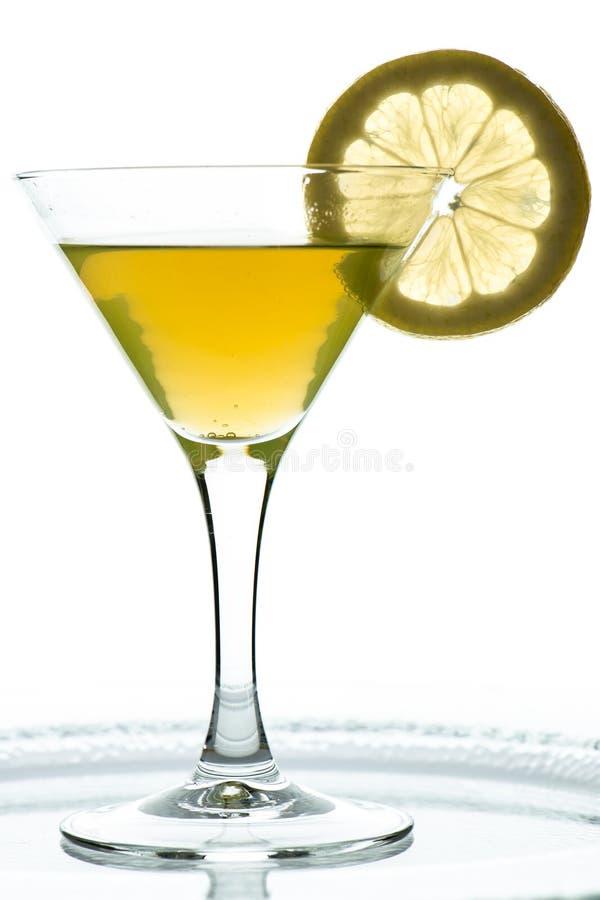 Aranciata con la fetta di limone fotografia stock