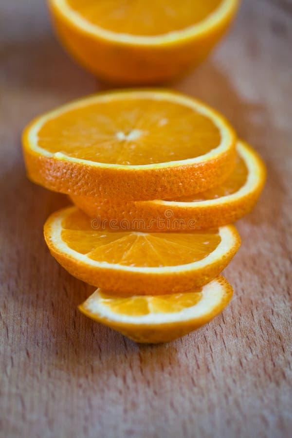 Arancio affettato fotografia stock
