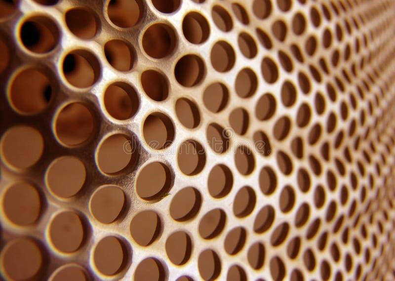 Arancio astratto del metallo fotografia stock