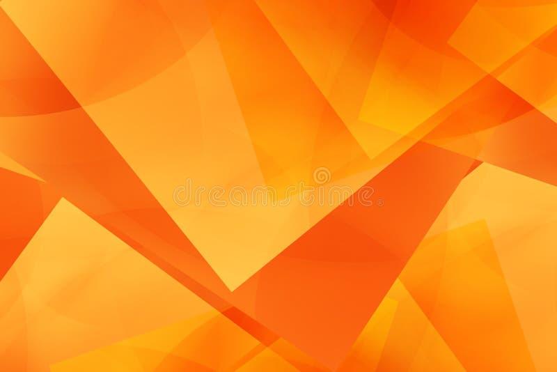 Arancio astratto della geometria illustrazione di stock