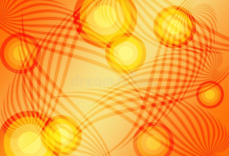 Arancio astratto della priorità bassa illustrazione di stock