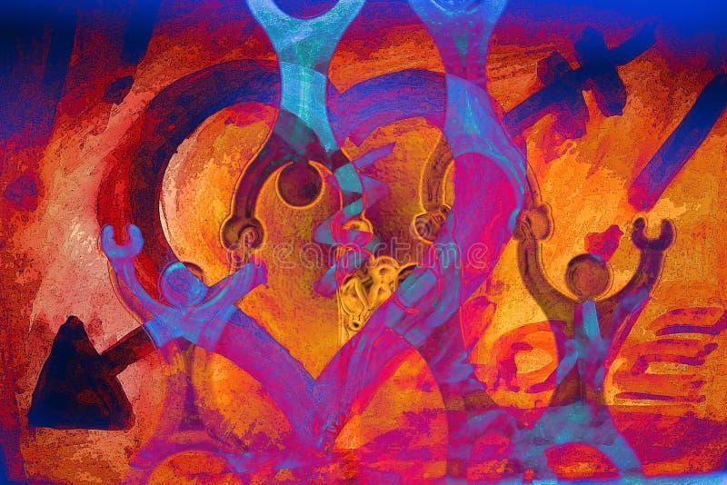 Download Arancio/azzurro Del Manifesto Di Amore Illustrazione di Stock - Illustrazione di pittura, fenomenale: 221364