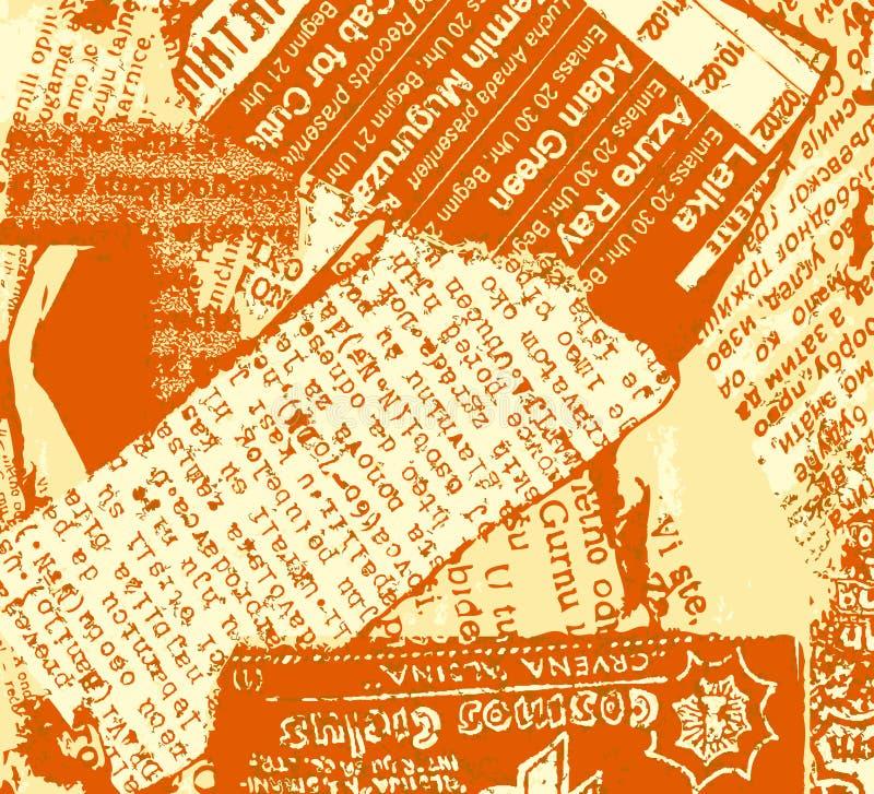 Arancio del grunge del giornale illustrazione vettoriale