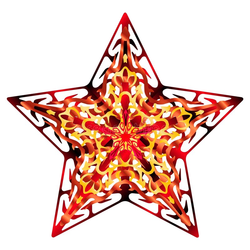 Arancio della stella di Flourish illustrazione vettoriale