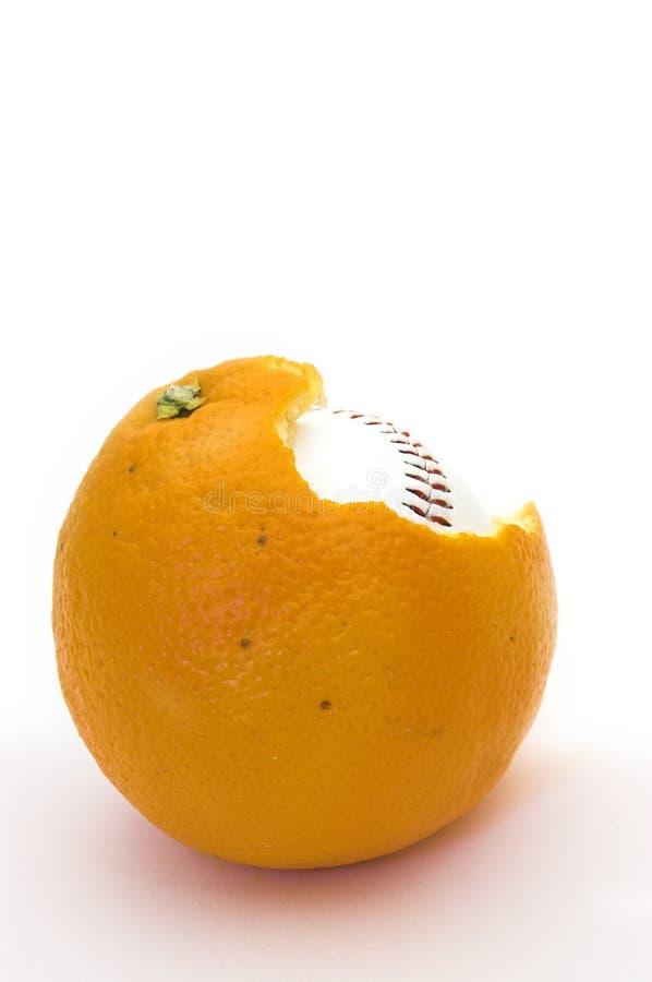 Arancio di baseball fotografie stock libere da diritti