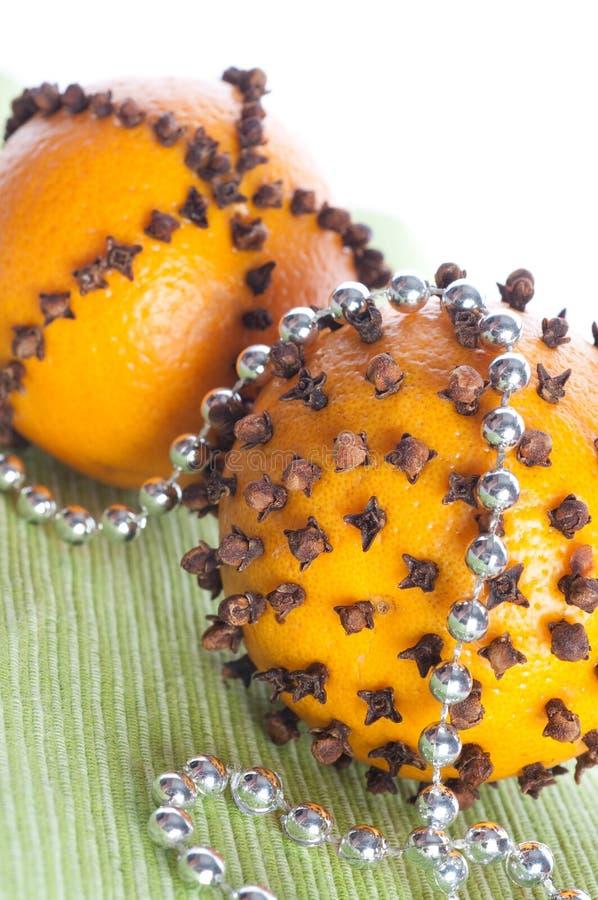 Arancio di natale fotografia stock