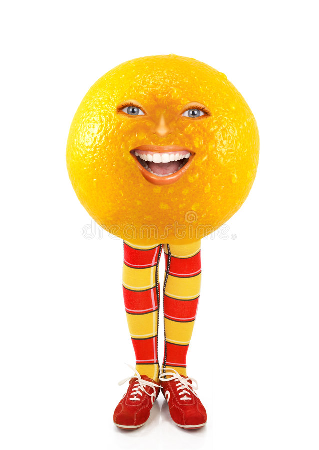 Arancio divertente fotografie stock